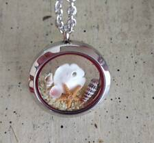 Floating charms living locket ocean beach necklace Pendant Starfish sand dollar