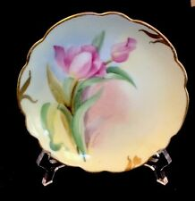 PICKARD ARTIST SIGNED HAND-PAINTED Flower DISPLAY PLATE C. 1905-1910