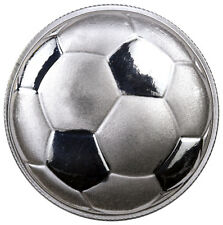 2016 Monarch 1 oz. .999 Fine Prooflike Silver Domed Soccer Ball Round SKU42138