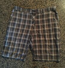 HURLEY PLAID Men's SHORTS 7 Pockets Size 33 RCP