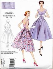VOGUE SEWING PATTERN 2960 MISSES 12-18 RETRO 1954 FLARED DRESS WITH LOW NECKLINE