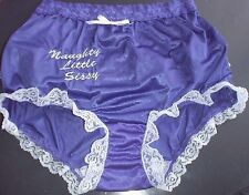 Embroidered Naughty Sissy Lace Violet Panties Brief Style New