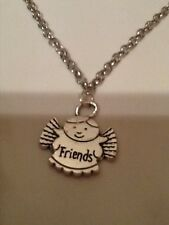 Friends angel necklace silver in colour 18 inch chain
