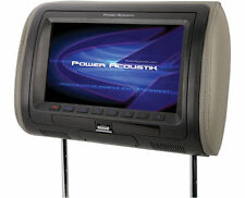 "POWER ACOUSTIK HDVD-71HD SINGLE CAR 7"" LCD HEADREST MONITOR BUILT-IN DVD PLAYER"