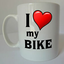 I Love Heart my BIKE Personalised Message Name Gift Mug Cup Personalized Cycling