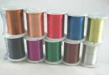 100 Metres of Assorted Coloured 0.3mm Brass Beading Wire