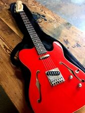 NEW SEMI HOLLOW METALLIC FIESTA RED TELE STYLE PRO TELE 6 STRING ELECTRIC GUITAR