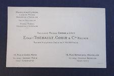 Carte de visite Maison Come et Levy THEBAULT GOHIR Broderie dentelle BRUXELLES