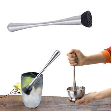 Cocktail Muddler Stainless Steel Swizzle Stick Crushed Bar Mixer DTY Ice Drink