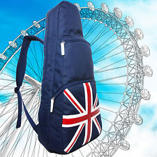 """Union Jack UK Flag 26"""" Tenor Ukulele Gig Bag / Backpack Rucksack Daypack 2 Ways"""