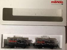 """HO Marklin Marklin 31650 Container Car Set """"Fisher Dübel"""" New in box, uncommon"""