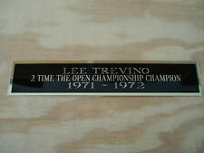 Lee Trevino The Open 2X Champion Nameplate For A Golf Club Display Case 1.5 X 8