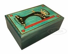 SEWING BOX Polish Handmade Wood Art Keepsake Unique Masterpiece Great Gift Idea
