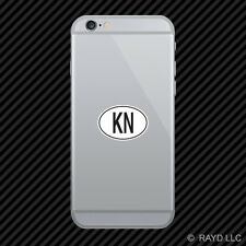 KN Greenland Country Code Oval Cell Phone Sticker Mobile Greenlandic euro