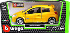 RENAULT CLIO SPORT 1:32 Car Metal Model Die Cast Models Diecast Yellow