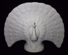 LLADRO Vintage Retired 1978, Pavo Real Blanco, Matte White Peacock Flower Vase