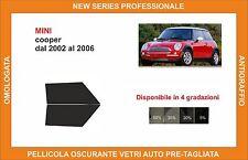 pellicola oscurante vetri pre tagliata mini cooper dal 2002 al 2006 kit ant