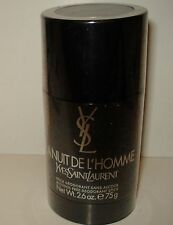 LA Nuit De L'Homme Yves Saint Laurent for Men 2.6oz Alcohol Free Deodorant Stick