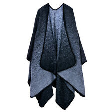 Womens Fashion Ladies Cape Blanket Winter Wrap Poncho Open Front Shawl Cardigan