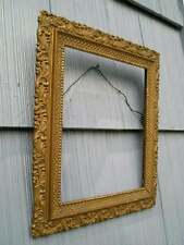 Aged Antique Aesthetic Eastlake Victorian Ornate Swirl Picture Frame 9 1/2 x 11