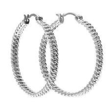 New Bright Turning Chain Hoop Earrings