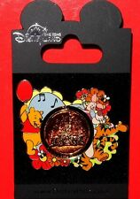 Hong Kong Disney Pin Spinner Castle Series - Pooh, Tigger and Piglet - HKDL