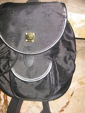 Authentic  light   *MCM* - BACKPACK  in  black  ----   excellent condition