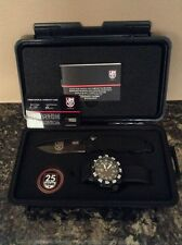 Luminox 25th anniversary Watch & SOG Knife Set, w/ Challenge Coin, Rare