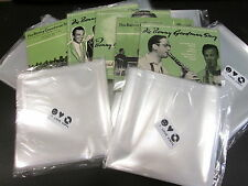 "100 pcs. 7"" Plastic Vinyl Record SLEEVES COVERS SP Outer ♫ Best PRICE/QUALITY!"