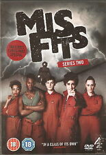 MISFITS - Series 2. Iwan Rheon, Robert Sheehan, Lauren Socha (2xDVD SET 2010)
