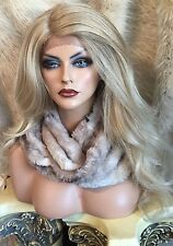 Realistic Long, Blended Blonde, Lace Front With Side Part, Heat Friendly Wig!