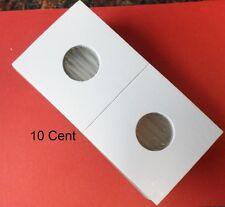 (100) Dime  Size 2 X 2 Mylar Cardboard Coin Flips for Coin Storage