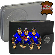 Klassek FRANCE French Rugby gift Wallet Black Leather Gorilla Mens Shirt in Box