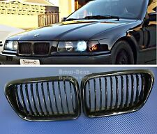 1997-99 BMW E36 Front Grille Kidney Style FRONT HOOD GRILL 318i 323i Gloss Black