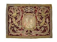 Spanish, 16th Century Vestment with Embroidered Metal Thread Grotesque Motif