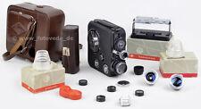 8mm Filmkamera EUMIG C3 mit 3 Objektiven, Kleberpresse, Tasche etc. TOP & NICE !