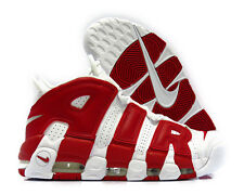 [414962-100] NIKE AIR MORE UPTEMPO WHITE GYM RED MENS SNEAKERS Sz 12