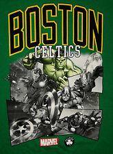 Marvel Comics Avengers NBA Boston Celtic Basketball T-Shirt New Small