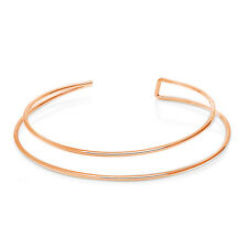 BERRICLE Rose Gold-Tone Fashion Choker Necklace