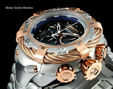 New Invicta 56MM Reserve THUNDERBOLT BLACK MOP Dial w/5MM Rose Gold Bezel Watch