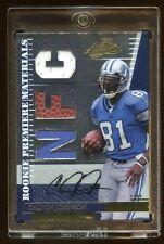 2007 ABSOLUTE CALVIN JOHNSON RC AUTO #D /25 JERSEY/BALL/JERSEY TRUE RC AUTOGRAPH