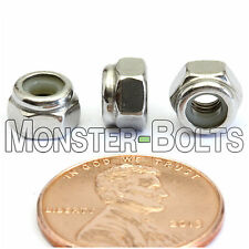 M4-0.7 / 4mm - Qty 10 - Nylon Insert Hex Lock Nut DIN 985 - A2 Stainless Steel