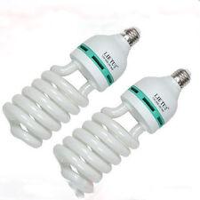2 x 150 vatios 5500k Luz Del Día Bombillas De Lámpara de Studio E27 Vendedor GB