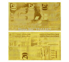 SWITZERLAND FRANCS 20 SCHWEIZER FRANKEN GOLD REPLICA