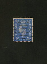 POSTAGE STAMP : GREAT BRITAIN : KING GEORGE VI - 2 and half pence  - blue