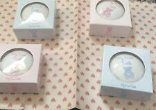��White Trinket Box For The First Tooth With Pink Teddy - 8cm-Ceramic with Box G