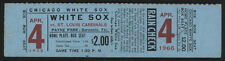 1966 WHITE SOX vs CARDINALS Spring Training Exhibition Game Full Ticket