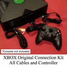 New Connection Kit - Controller + A/V Cable + AC Power Cord for XBOX Original