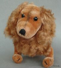 Steiff Waldi Dachshund Dog 22cm 9in Copper Mohair Plush 1960s ID Button Vtg