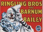 POST CARD OF AN OLD CIRCUS POSTER FOR RINGLING BROTHERS COMBINED SHOWS